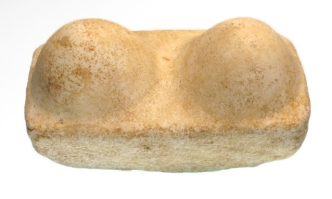 Canaanite Marble Votive 'Breasts of Astarte Block, c. 1500-1000 BC