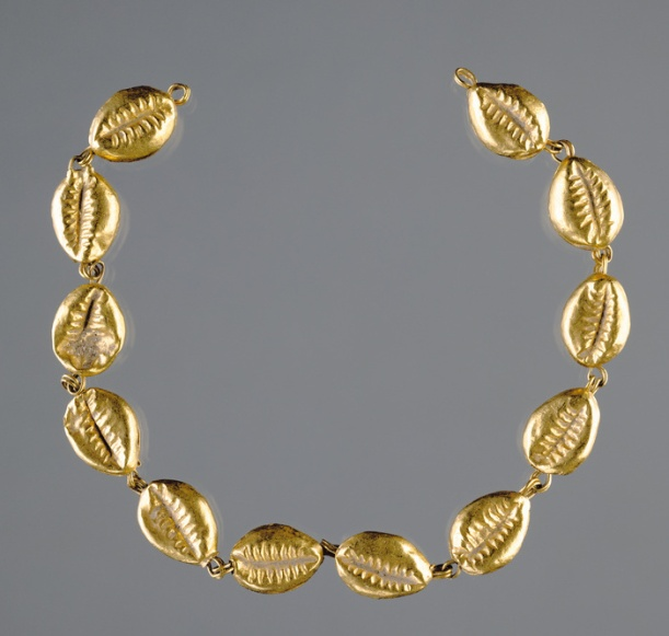 Gold Beads in the Shape of Cowrie Shells